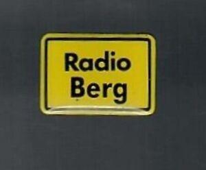 PIN - Radio Berg - Radiosender - Ortsschild - Glasiert - Pins