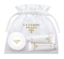 Prada La Femme Coffret Hand cream, shower gel, Soap Travel Set bag Pouch nib NEW