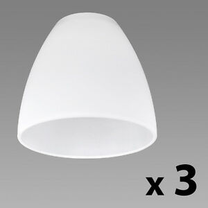 Set of 3 frosted white glass replacement ceiling wall light shade set of 3 frosted white glass replacement ceiling wall light shade lamp shades ebay aloadofball Image collections
