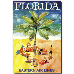 Fridge magnet Vintage Travel Poster: Florida Miami | eBay