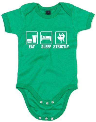 Eat Sleep strictement Imprimé Baby Grow nouveau-né Cadeau Nouveau coton doux Body