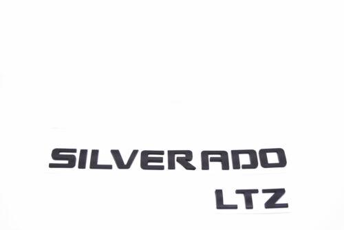 Black SILVERADO LTZ Emblem Badge 3D Letter 2500HD Chevrolet MATTE BLACK