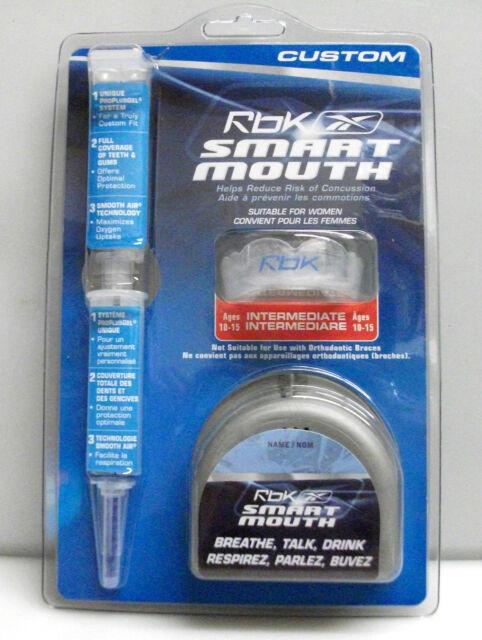 New Reebok Smart Mouth custom guard intermediate 10-15 hockey football rbk jr