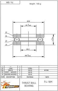 Axial presión almacén f 4-10 m 4x10x4 mm thrust pelota bearing f4-10m  </span>