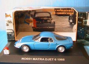 matra djet 6 vi de 1966 bleu nostalgie 051 1 43 blue blau new voiture francaise ebay. Black Bedroom Furniture Sets. Home Design Ideas