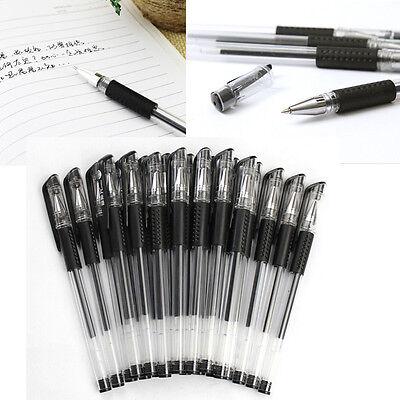 XIUS 12Pcs Box 0.5mm Black Gel Ink Rollerball Ballpoint Pen Stationery Office