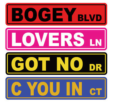 "6968 SS Peafowl 4/"" x 18/"" Novelty Street Sign Aluminum"