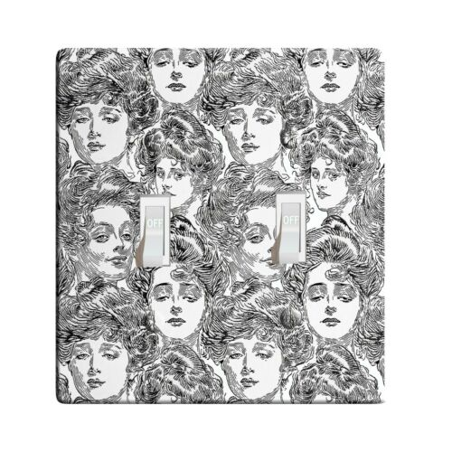 3D Printed Maxi Metal Bachelor/'s Wall Gibson Girl Switch Plate Cover L0049