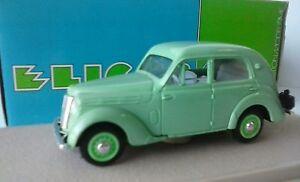ELIGOR-1-43-AUTO-DIE-CAST-RENAULT-JUVAQUATRE-BERLINE-1938-VERDE-CHIARO-ART-1014