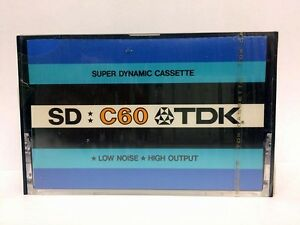 TDK-SD-C60-BLANK-AUDIO-CASSETTE-TAPE-NEW-RARE-1973-YEAR-USA-MADE