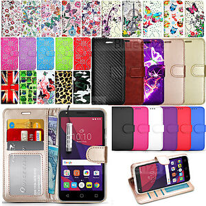 buy online 61a84 83401 Details about For ALCATEL PIXI 4 (5.0) 4G 5045X Wallet Leather Case Flip  Cover + Touch Stylus