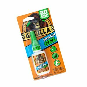 Details about Gorilla Super Glue Gel, 20 g, Clear 1 Pack Free Shipping