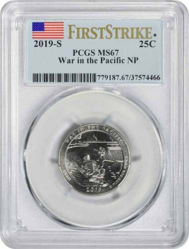 2019-S War in the Pacific National Park Quarter MS67 First Strike PCGS