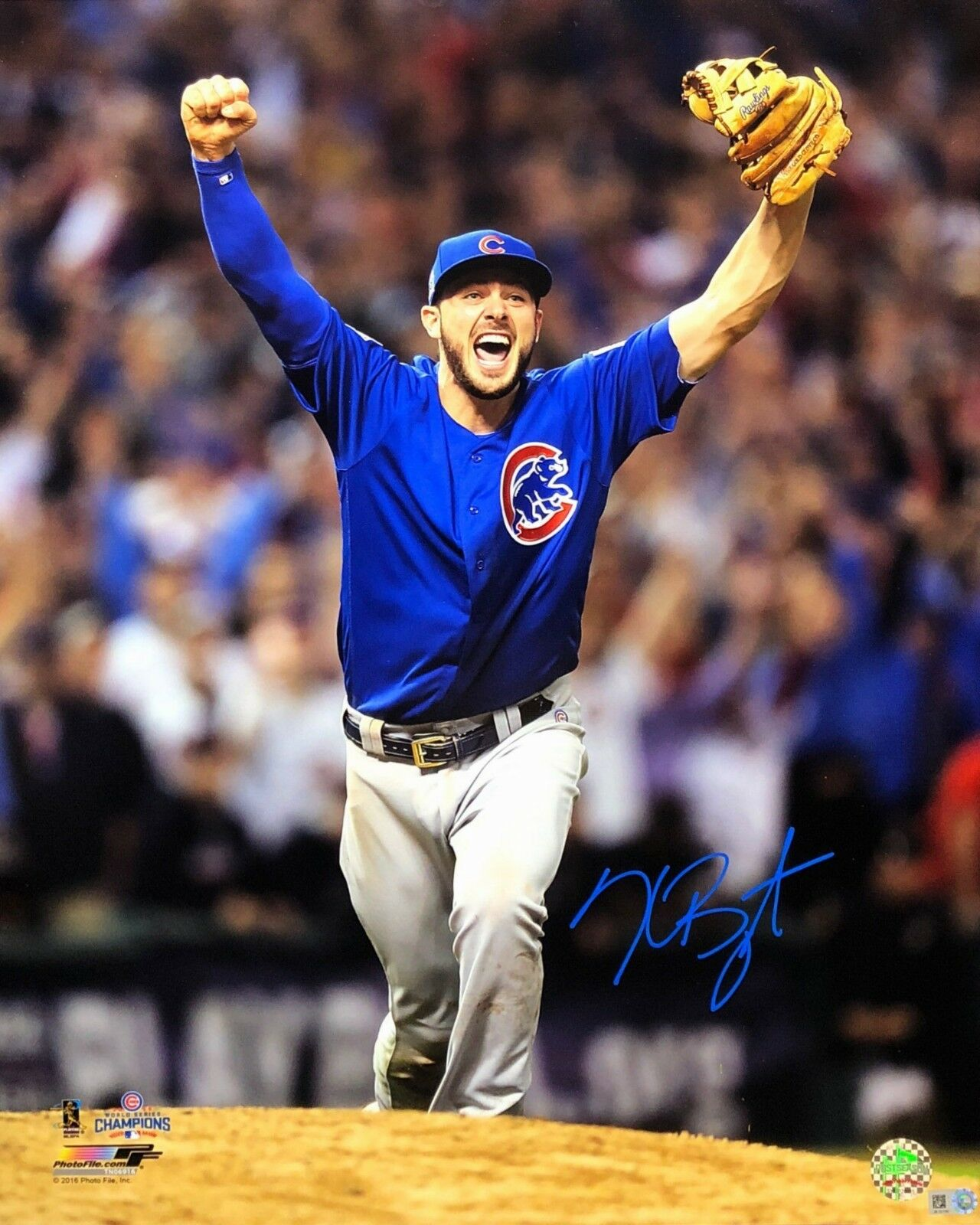 Kris Bryant Signed Chicago Cubs World Series 16x20 Photo *Baseball MLB COA