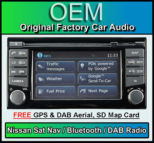 Nissan-Note-Sat-Nav-car-stereo-DAB-radio-LCN2-Connect-CD-player-Bluetooth