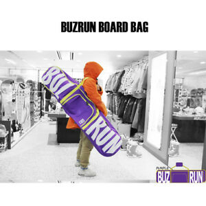 Buzrun Purple Snowboard Bag Deck Boots Binding Padded should Strap 151cm
