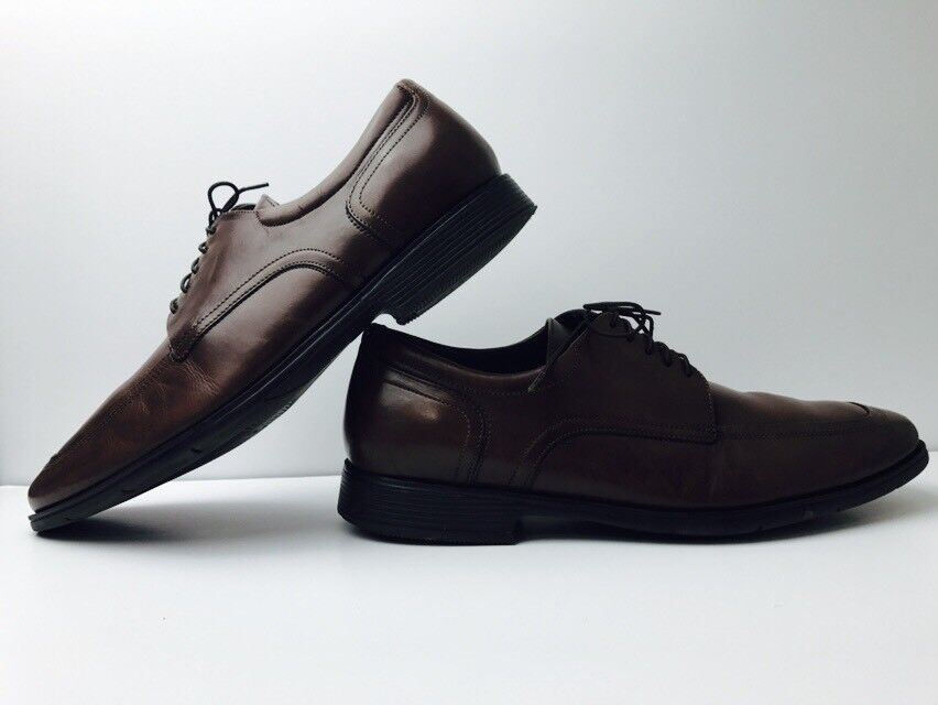 Florsheim Comfort Tech Split Toe Brown Leather Dress Casual shoes Men's 12 D EUC