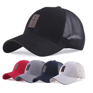 Man-Baseball-Cap-Trucker-Hat-Blank-Curved-Hat-Mesh-Adjustable-Plain-Color-Cap
