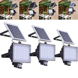 solar led fluter mit bewegungsmelder 10w 20w 30w 50w und akku flutlicht au en ebay. Black Bedroom Furniture Sets. Home Design Ideas