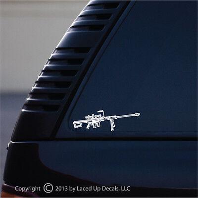 M107 Sniper Rifle Vinyl Decal,Barrett M82 .50 cal,USMC,Army,Marine Corps,SM