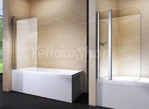Parete sopravasca box cabina doccia vasca cristallo anta battente bagno 100 120 ebay - Box doccia su vasca da bagno ...