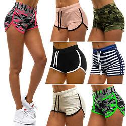 Kurzhose Shorts Sporthose Jogging Trainingshose Kurze Hose Slim Damen OZONEE 813