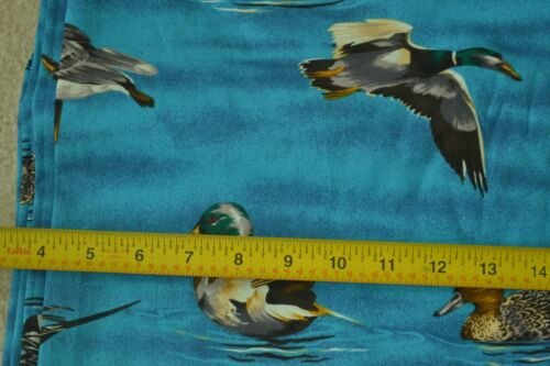 """Large Ducks on Blue Better-Cotton 42/"""" Wide M3359 By-the-Half-Yard"""