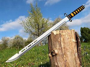 Wunderschoene-leichte-Zweihand-Machete-70-cm-Machette-XXL-Bowie-Coltello-M001