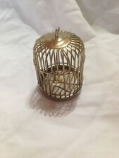 VINTAGE BRASS DOLL HOUSE BIRD CAGE MINIATURE CUTE