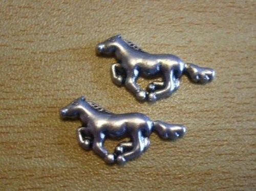 Cute silver alloy horse cabochons flat back charms  24mm x20 UK C197