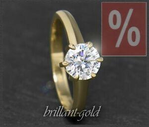 Diamant-585-Gold-Brillant-Ring-mit-1-12ct-Top-Wesselton-Si-14-Karat-Damenring
