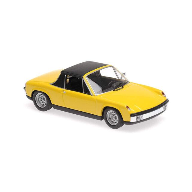 Maxichamps 940065661 Vw-Porsche 914/4 Amarillo Escala 1:43 Coche a Nuevo !°