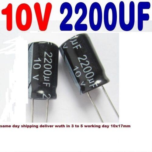 2200uf 10v 105C Electrolytic Capacitor Low ESR 15 pcs