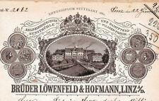 Brüder Löwenfeld & Hofmann historische Rechnung Linz 1893 Österreich Mühle