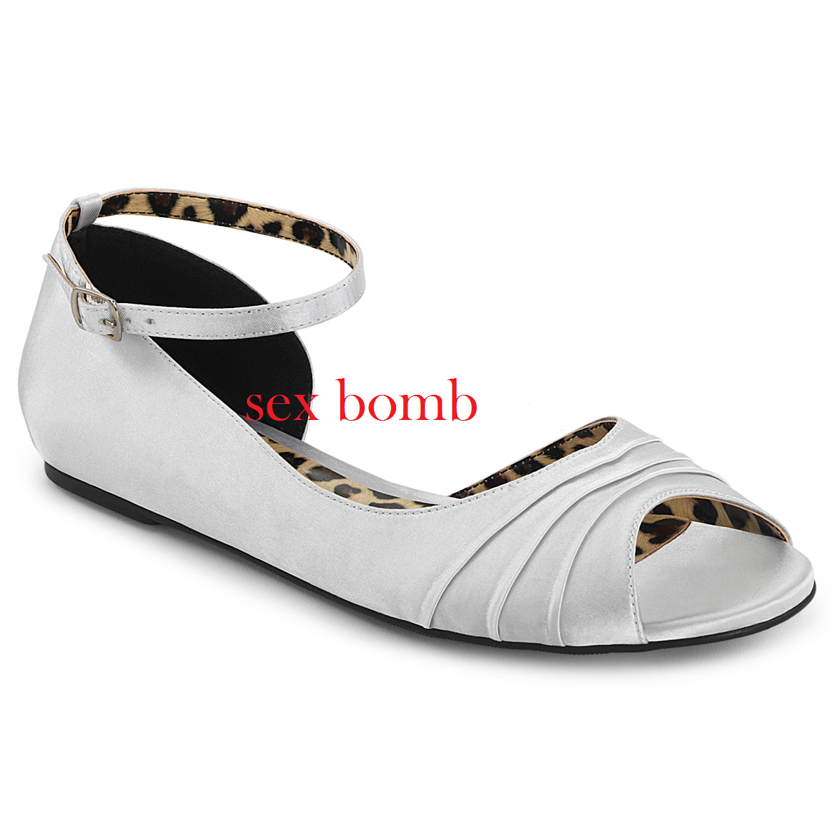 Sexy BALLERINE APERTE dal 39 al ARGENTO 46 ARGENTO al cinturino tacco flat scarpe GLAMOUR 85cfd2