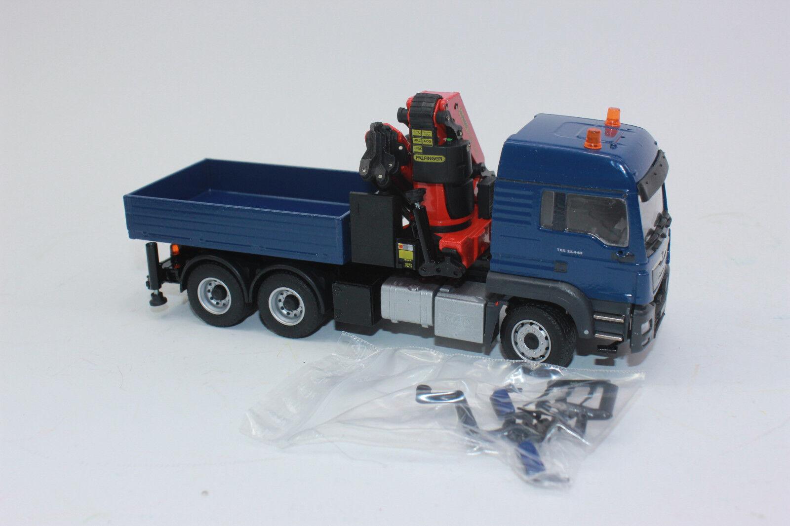 Conrad 77188 MAN TGS LX Euro 6 33.440 3 ACH 6x4 con Palfinger PK 53002 1:50 NUOVO