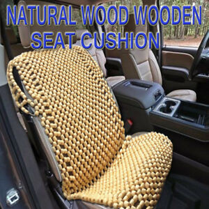 Details About Zone Tech Natural Wooden Beaded Car Seat Chair Cover Massage  Cool Cushion
