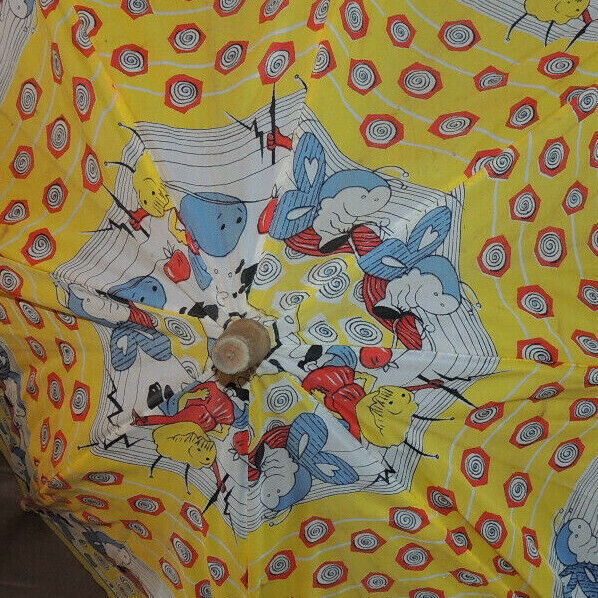Vintage Mid-century 60s 70s Red Yellow Blue Wht M… - image 5
