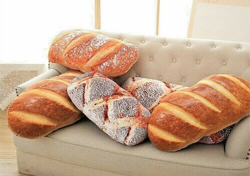 3D Bread Bun Stuffed Pillow Food Cushion Simulation Soft Toy Home Decor Kid Gift