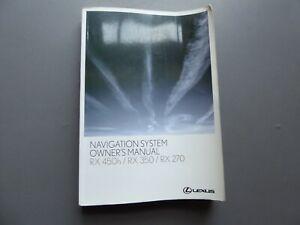 LEXUS-RX-450H-RX350-RX270-NAVIGATION-HANDBOOK-MANUAL-2009-2012-PRINT-2011