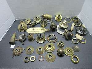 Lot Antique Oil Lamp Wick Burners Parts And Repair Vintage