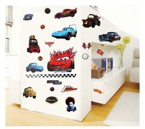 Wandtattoo-Wandsticker-Wandaufkleber-Pixar-Cars-Lightning-McQueen-90-x-50-YD216