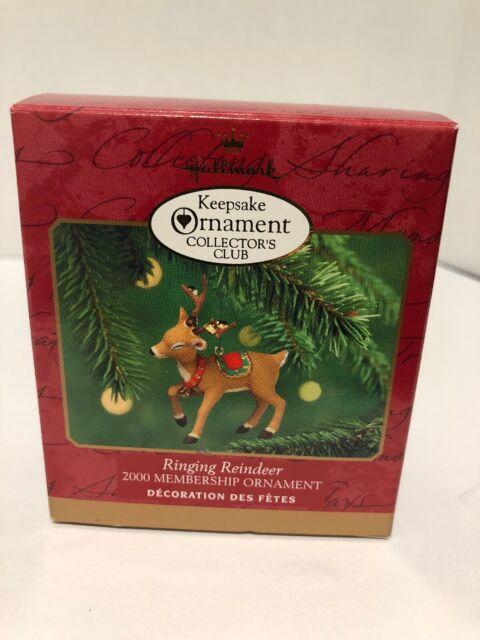 Ringing Reindeer`2000`Collectors Club Membership,Hallmark ...