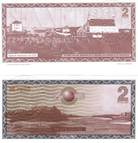 Senneterre QC 1997 Trade note $2 w// stamped seal