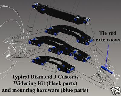 Honda TRX 250EX 250X A-arms /& Shocks ATV Widening Kit