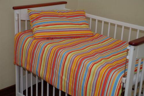süße Babybettwäsche Kinderbettwäsche Kopfkissen Bettdecke STREIFEN viele Farben