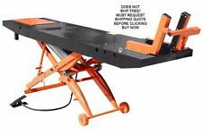 NEW Titan 1000D 1000 lb Motorcycle Lift Table WITHOUT Side Extensions Orange