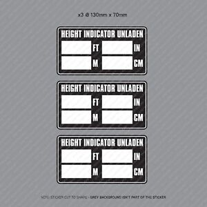 3-x-Commercial-Hgv-LGV-Vehicle-Cab-Height-Indicator-Warning-Stickers-SKU3113