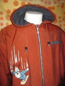 Vintage 1996 Ancienne VESTE de SNOWBOARD STUDIO AVENTURES TEX AVERY DROOPY TL