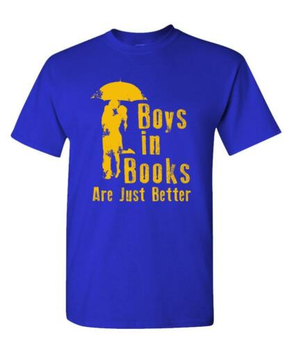 BOYS IN BOOKS ARE JUST BETTER Unisex Cotton T-Shirt Tee Shirt